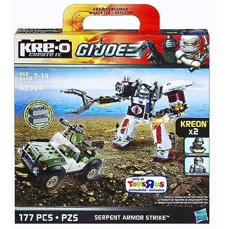 Kre-O G.I. Joe Serpiente Armor huelga con doble embrague Kreon & Cobra Robot traje