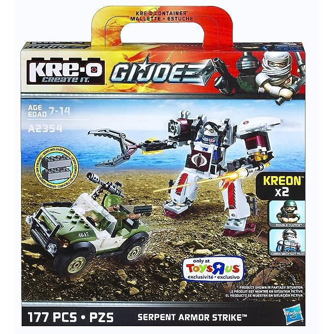 Kre-O G.I. Joe Serpiente Armor huelga con doble embrague Kreon & Cobra Robot traje Piloto A2354: Amazon.es: Juguetes y juegos