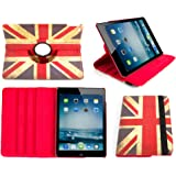"""DURAGADGET Apple iPad Air 2 Case - 'Union Jack' Print 360° Rotating Folio Case with Kick-Stand in Faux Leather for Apple iPad Air 2 (2015 ed., WiFi, LTE, 3G, 16GB, 32GB, 64GB, 9.7"""", A8X)"""