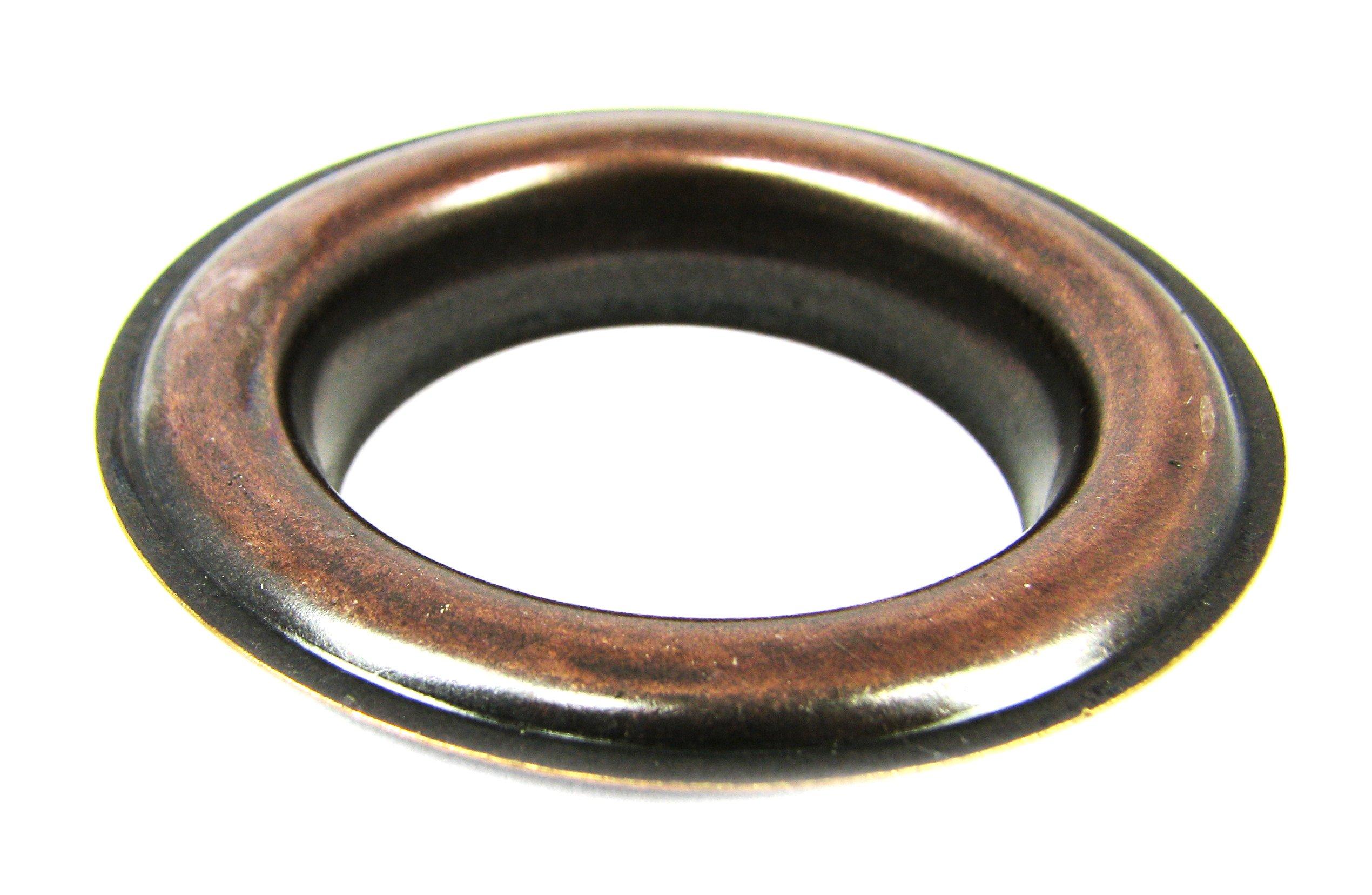 6pc. #12 (1.5'' hole diameter) Antique Copper Curtain Grommets