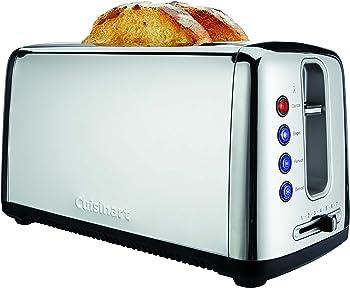 Cuisinart Bakery Artisan Bread Silver Long Slot Toaster