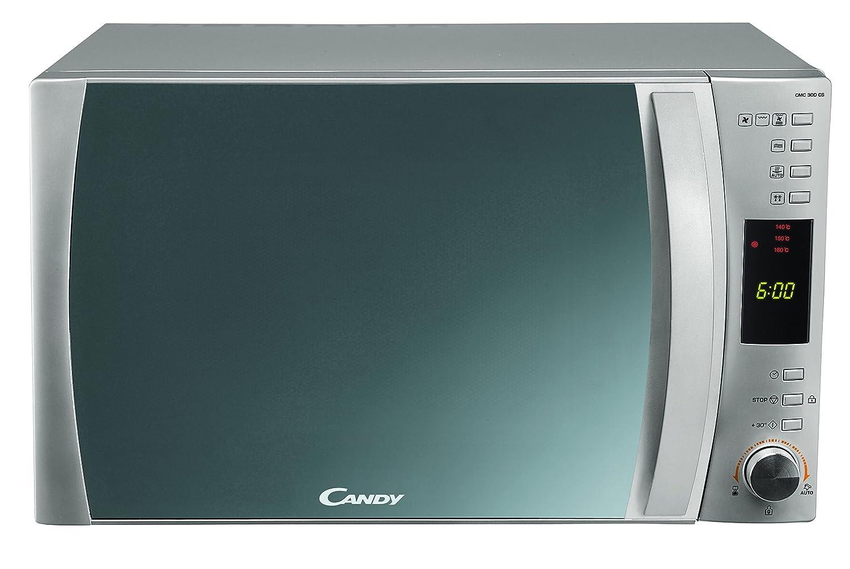 Candy CMC 30 DCS Combinado 30 litros. Microondas:900 W/Grill:1100 W/Horno:2500 W. Display Digital. Color: Silver, 1450 Plateado