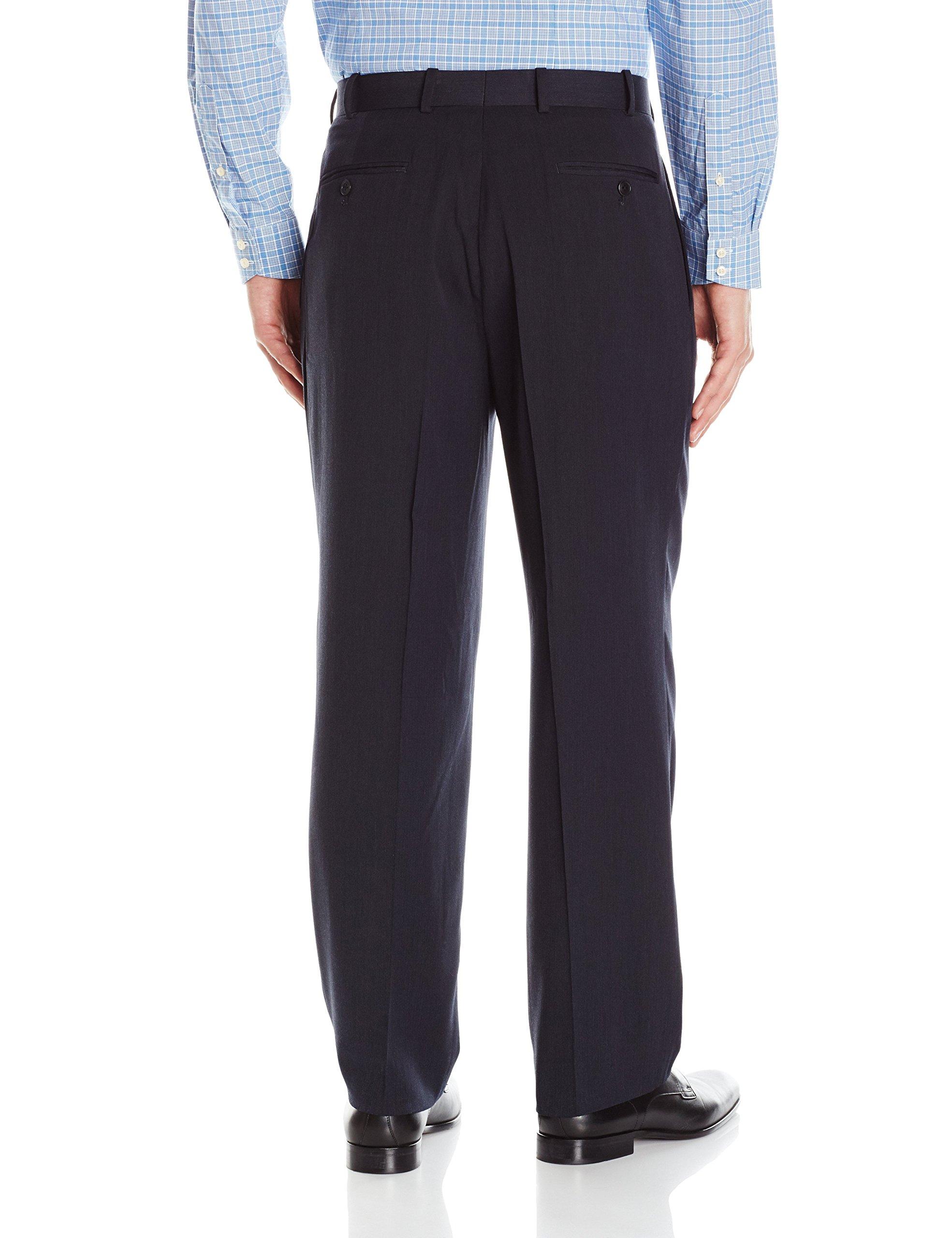 Adolfo Mens Single Pleat Micro Tech Suit Pant
