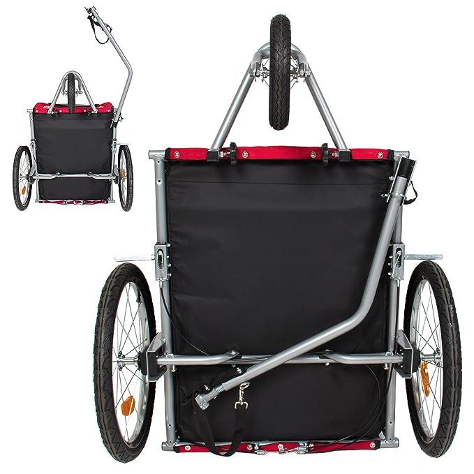 Mejor elección productos 2 en 1 perro de mascota bicicleta remolque de bicicleta remolque cochecito Jogger W/suspensión rojo: Amazon.es: Productos para ...