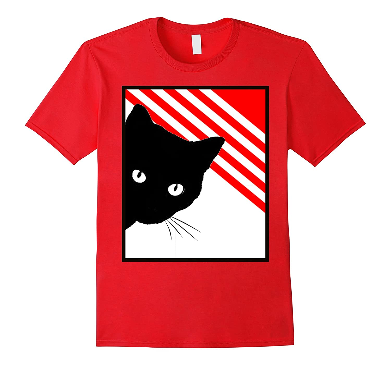 Red White Black Cat Tshirt Tee by Cats Made Better-FL