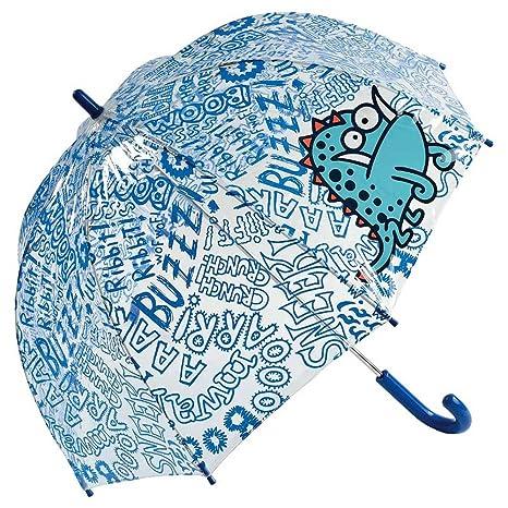 Paraguas kukuxumusu transparente infantil monster