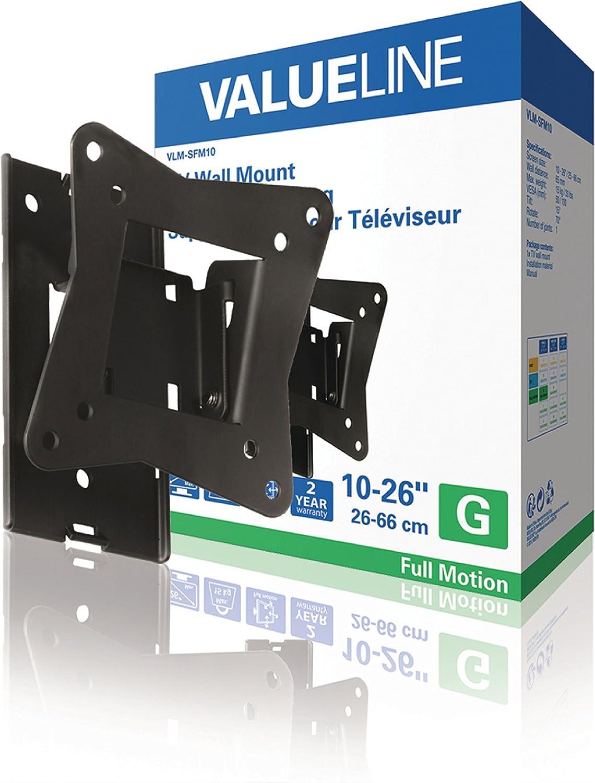 26 66 cm , 50 x 50 mm, 100 x 100 mm, Noir 10 Valueline VLM-SFM10 Support Mural d/écran Plat 66 cm Supports muraux d/écrans Plats Noir 26 15 kg, 25,4 cm