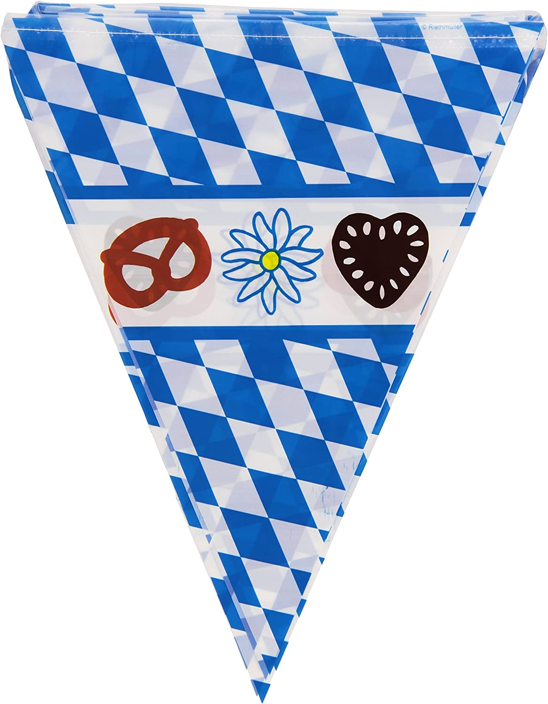 Boland 54200/ Bleu//Blanc /Filage fanions Chope f/ête de la bi/ère