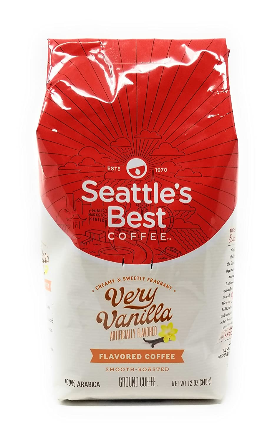 Seattle's Best Coffee Vanilla Bean Ground Coffee, 12-Ounce Bags (Pack of 3)