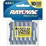 Rayovac Alkaline AAA Batteries, 824-18, 18-Pack