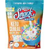 Keto Cereal by Snacks House, High Protein Low Carb Healthy Breakfast Food – Gluten & Grain Free Crunch – Paleo, Diabetic, Ket