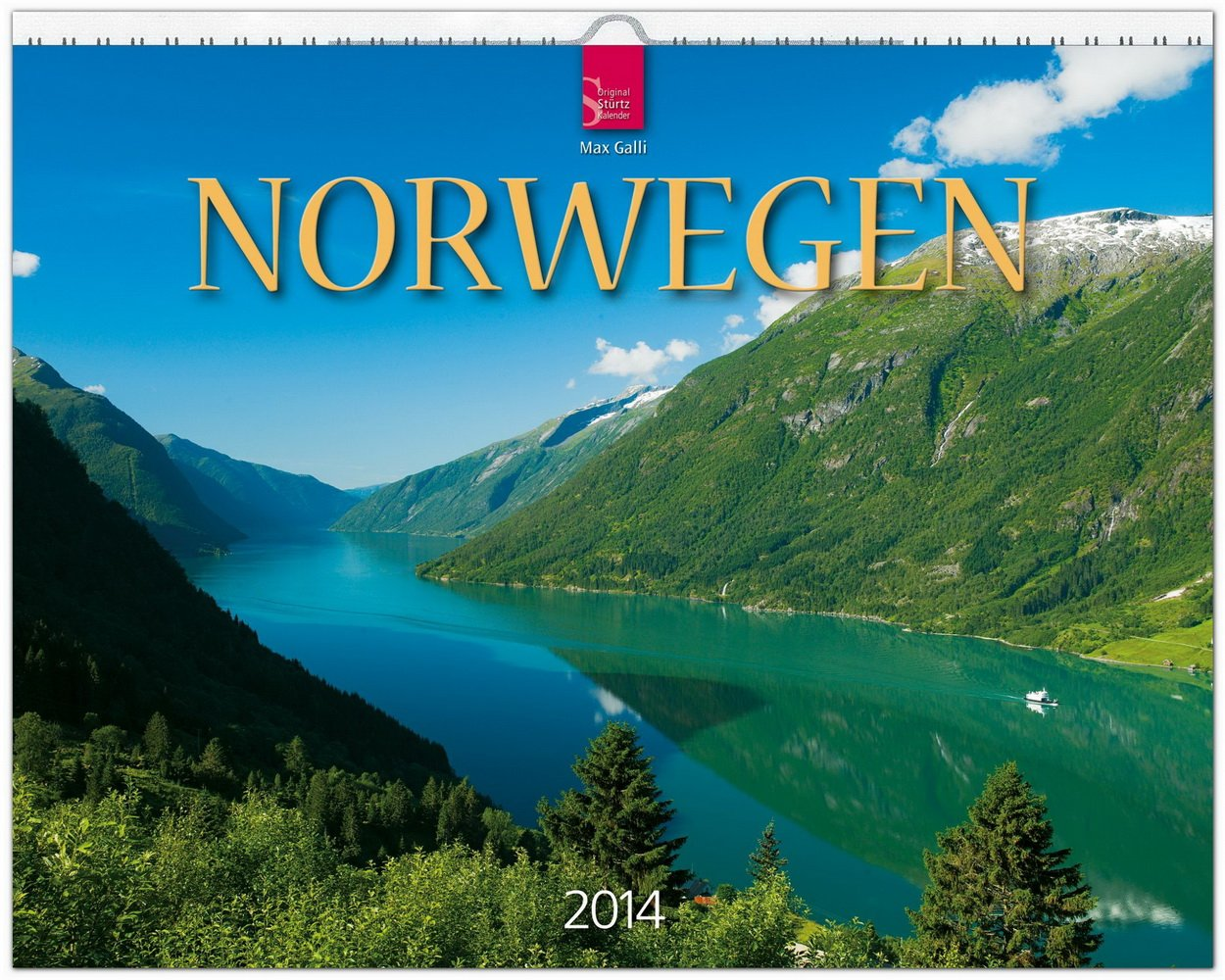 Norwegen 2014: Original Stürtz-Kalender - Großformat-Kalender 60 x 48 cm [Spiralbindung]