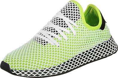 Adidas Deerupt Runner Semi Solar Slime Black Black 47