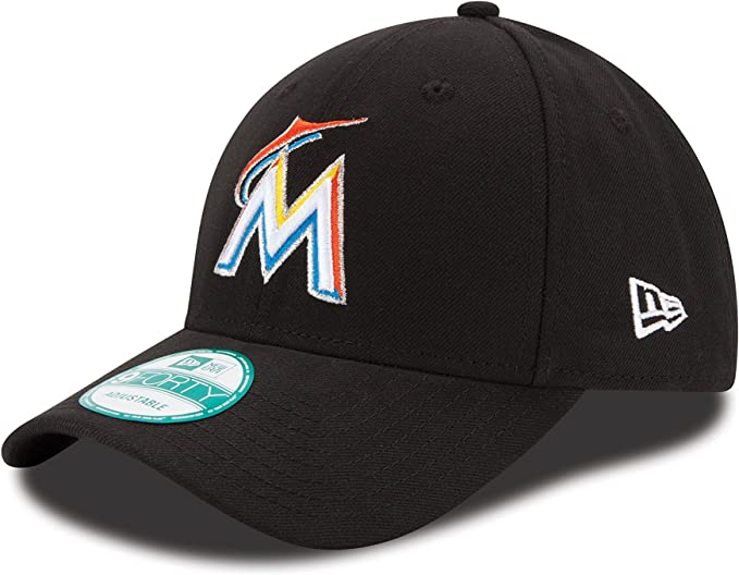 New Era The League Miami Marlins Hm Gorra, Hombre, Negro (Black ...