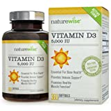 NatureWise Vitamin D3 5,000 IU, 360 Easy-To-Swallow Softgels, 1-Year Supply