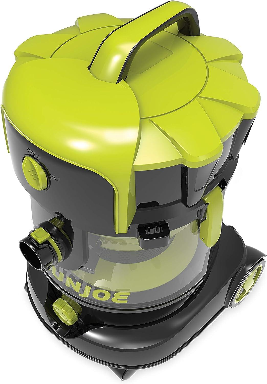 Sun Joe SWD6600 6.6 Gal 4.0 Peak HP Industrial Motor Wet/Dry Vac, Green