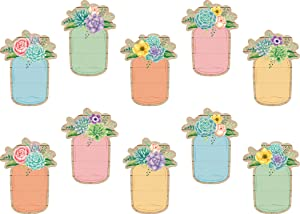 Teacher Created Resources Rustic Bloom Mason Jars Accents (TCR8551)