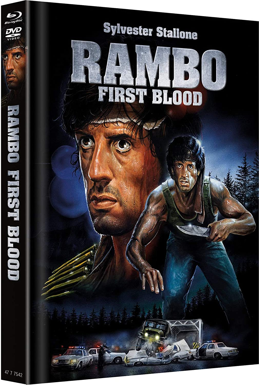 Rambo 1 - First Blood - Mediabook Cover A - Limitiert auf 666 Stück Alemania Blu-ray: Amazon.es: Stallone, Sylvester, Dennehy, Brian, Crenna, Richard, Caruso, David, Starrett, Jack, Kotcheff, Ted, Stallone, Sylvester, Dennehy,