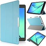 iHarbort® Samsung Galaxy Tab A 9.7 custodia in pelle, premio multi-angoli protettivo di peso leggero Case Cover custodia in pelle per Samsung Galaxy Tab A 9.7 SM-T550 SM-T555 Holder, con sonno auto / sveglia la funzione (Galaxy Tab A 9.7, azzurro)