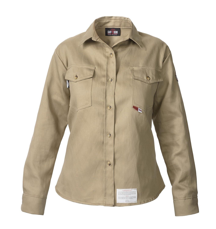 e4c7d844780 KHAKI - X-SMALL - WOMEN'S FR Work Shirt - 7oz. 100% Cotton INDURA ...