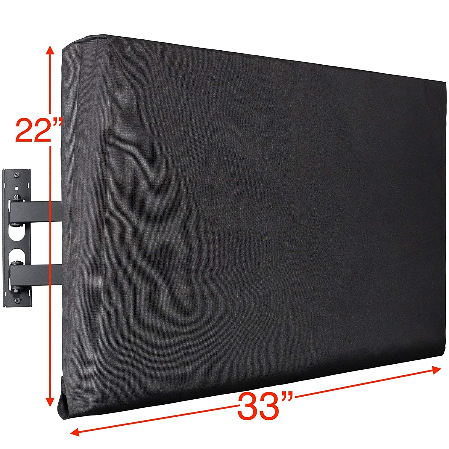Kuzy TV Cover 32', Display Weatherproof Outdoor TV Cover Protector for Flat Screen up to 32-inch - Fits Most TV Mounts, LCD, LED, Plasma Screens, Made in USA - BLACK …