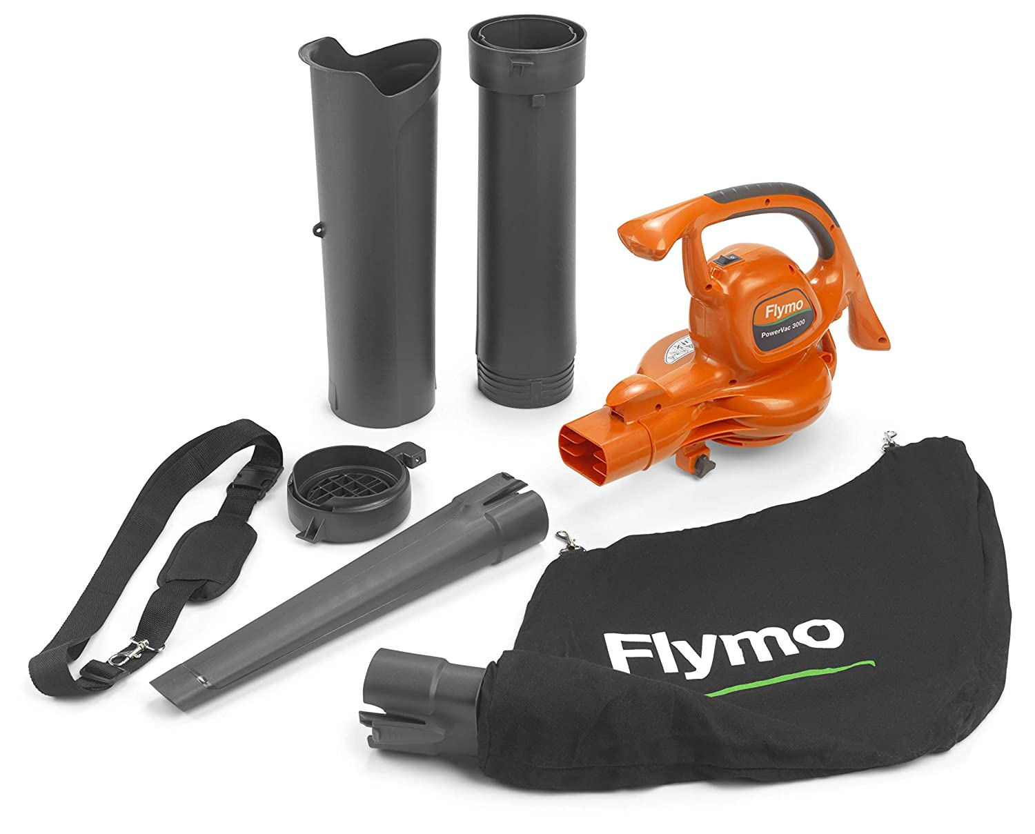 Flymo PowerVac 3000 Blower Vacuum with UNIVERSAL Scratch Resistant Plastic Protective Glasses