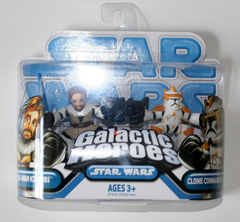 STAR WARS GALACTIC HEROES 2010 OBI-WAN KENOBI /& COMMANDER FIL SET