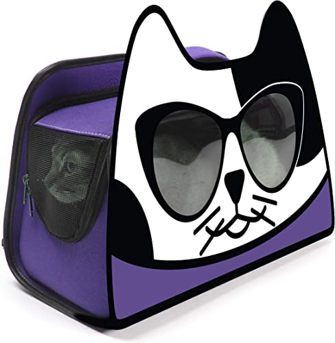 Primetime Petz Hauspanther Kittypak Collapsible Backpack Cat Carrier, Ultra Violet