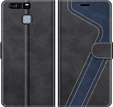 MOBESV Funda para Huawei P9 Plus, Funda Libro Huawei P9 Plus, Funda Móvil Huawei P9 Plus Magnético Carcasa para Huawei P9 Plus Funda con Tapa, Negro: Amazon.es: Electrónica