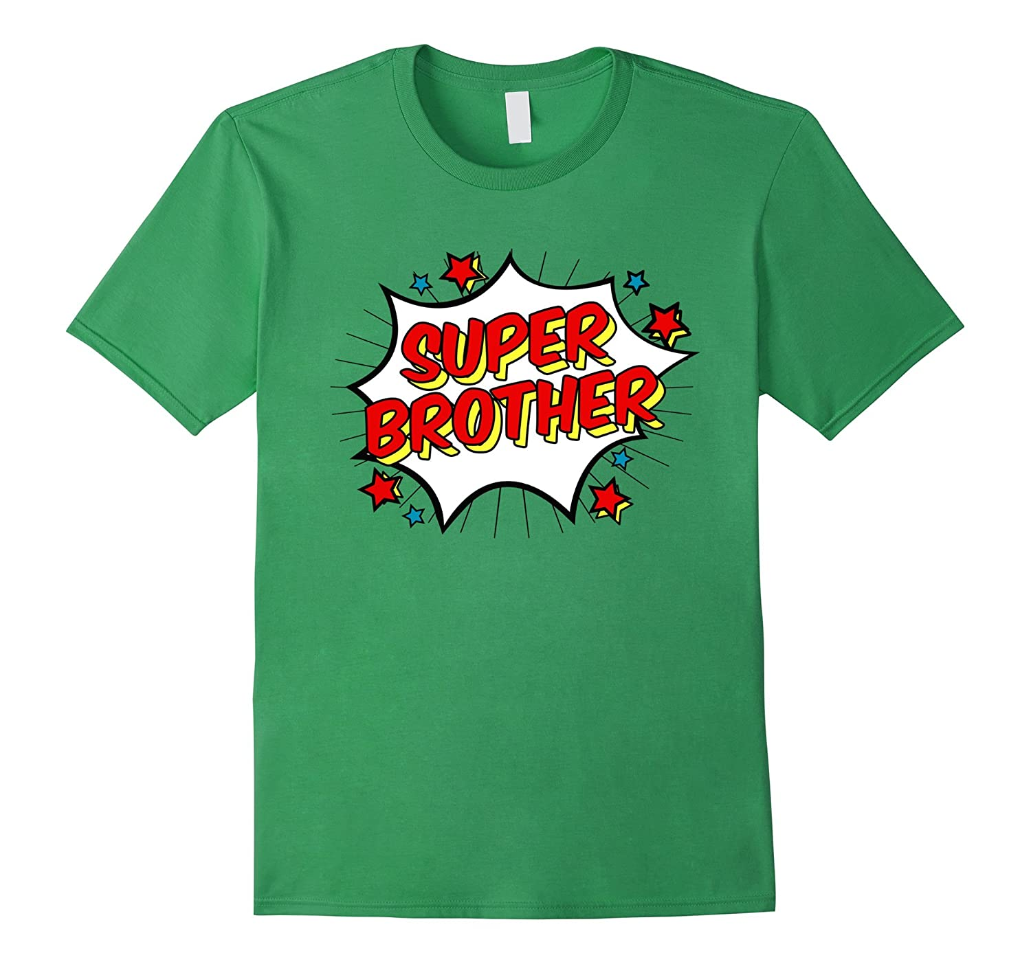 Superhero Super Brother T-Shirt Matching Sibling Shirts-Rose