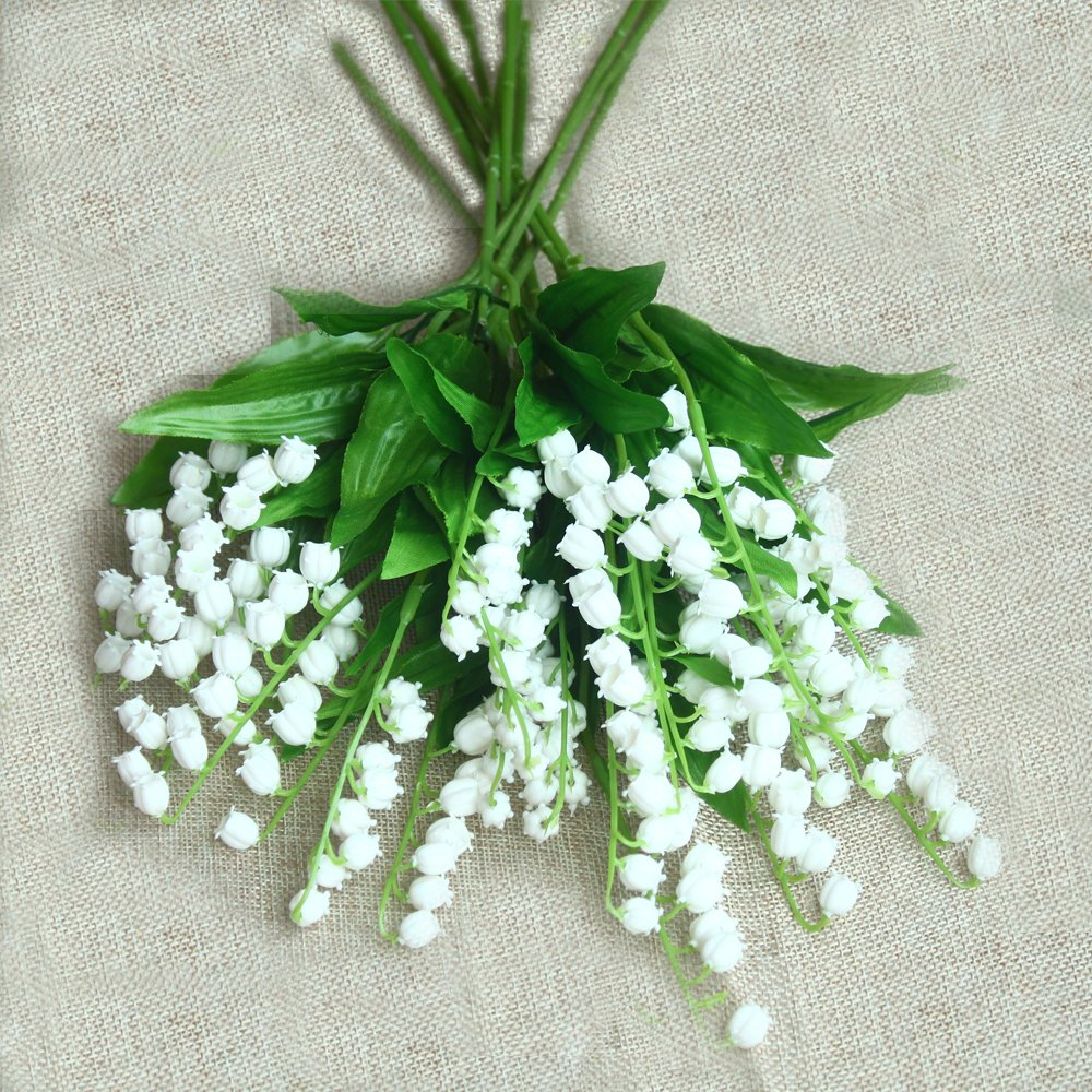 Amazon Monas Artificial Lily Of The Valley Flowers Arrangement