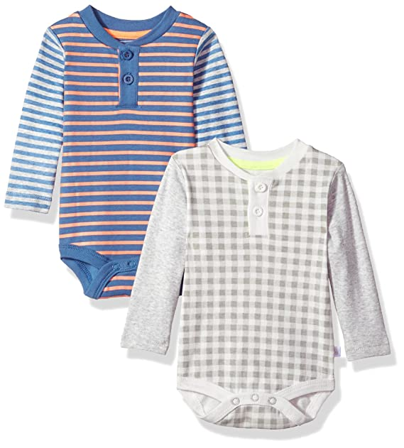 bd2aff9042e8 Amazon.com  Rosie Pope Baby Boys 2 Pack Henley Bodysuit
