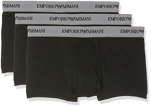 Emporio Armani Underwear Men s 111357CC717 Trunk (Pack of 3)  Amazon ... 8c0c0a9e123