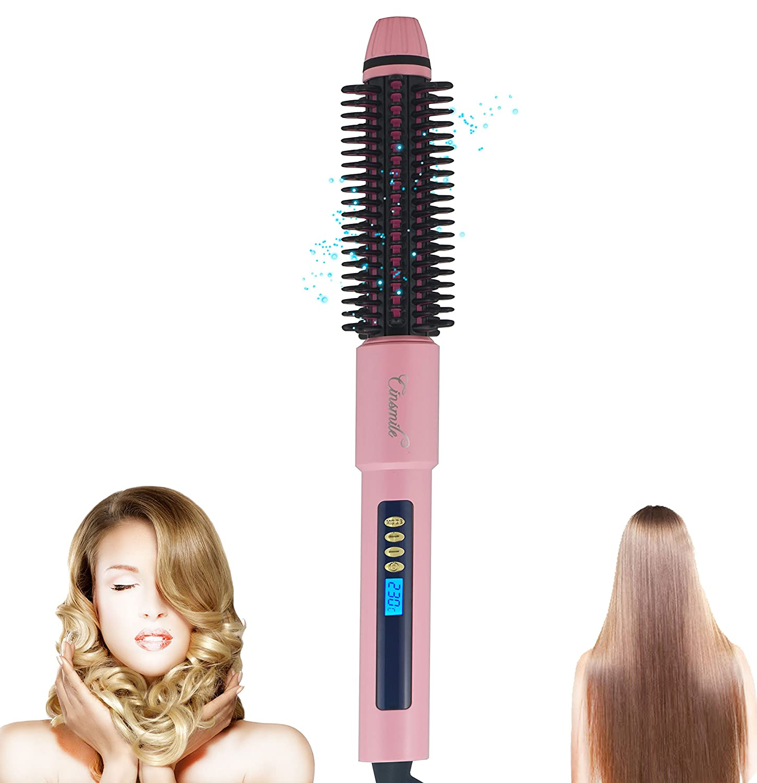 Hiromi® Rizador de Pelo Automático de Vapor,Rizador de pelo 2 en 1, Rizador de pelo automático con Sensor Digital, Plancha Rizadora para el Cabello (Rojo): ...