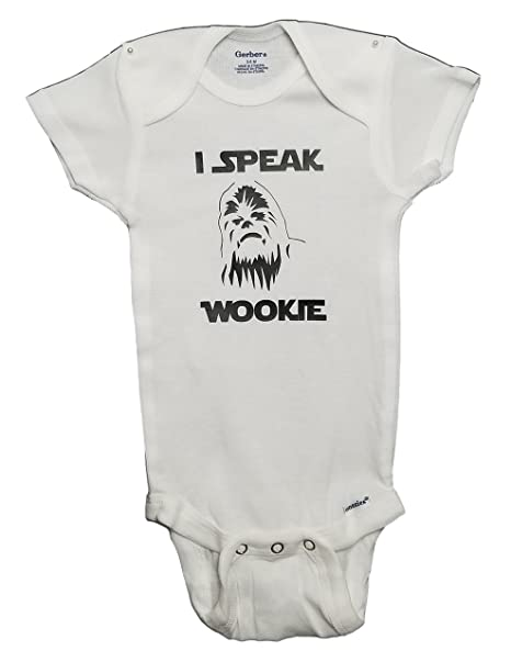 Star Wars Chewbacca Onesie I Speak Wookie Funny Baby Clothes Jumpsuit Pajamas & Bodysuit - PJ