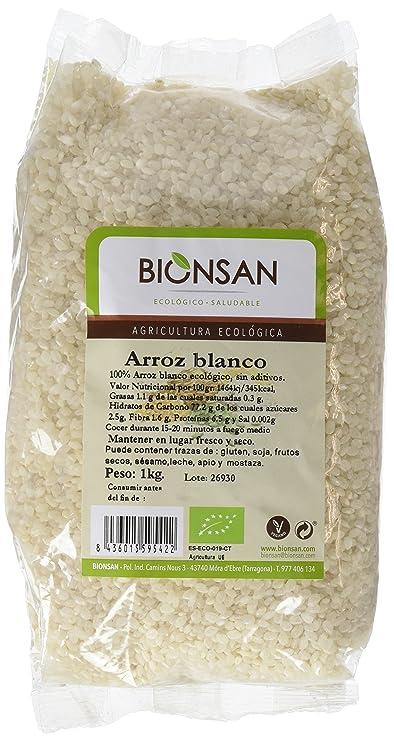 Bionsan Arroz Blanco Redondo - 3 Paquetes de 1000 gr - Total: 3000 gr: Amazon.es: Alimentación y bebidas