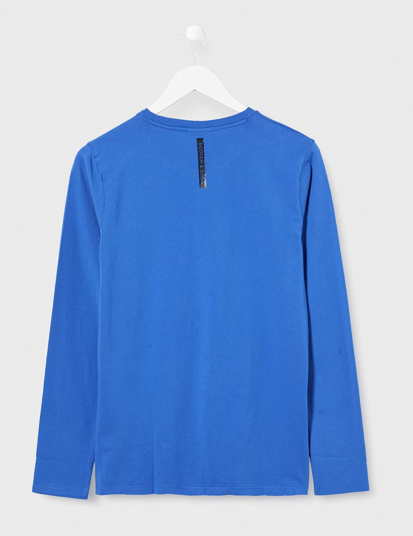 Scotch /& Soda Boys AMS Blauw Long Sleeve Tee Top