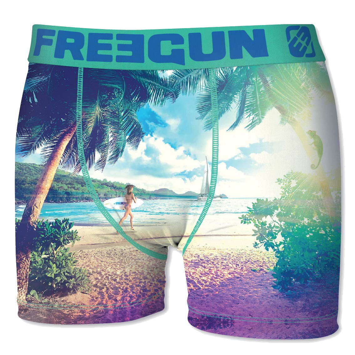 FREEGUN. Boxer for Boys FGP45 Holidays in Microfiber - Assortment Models Photos According to Arrivals