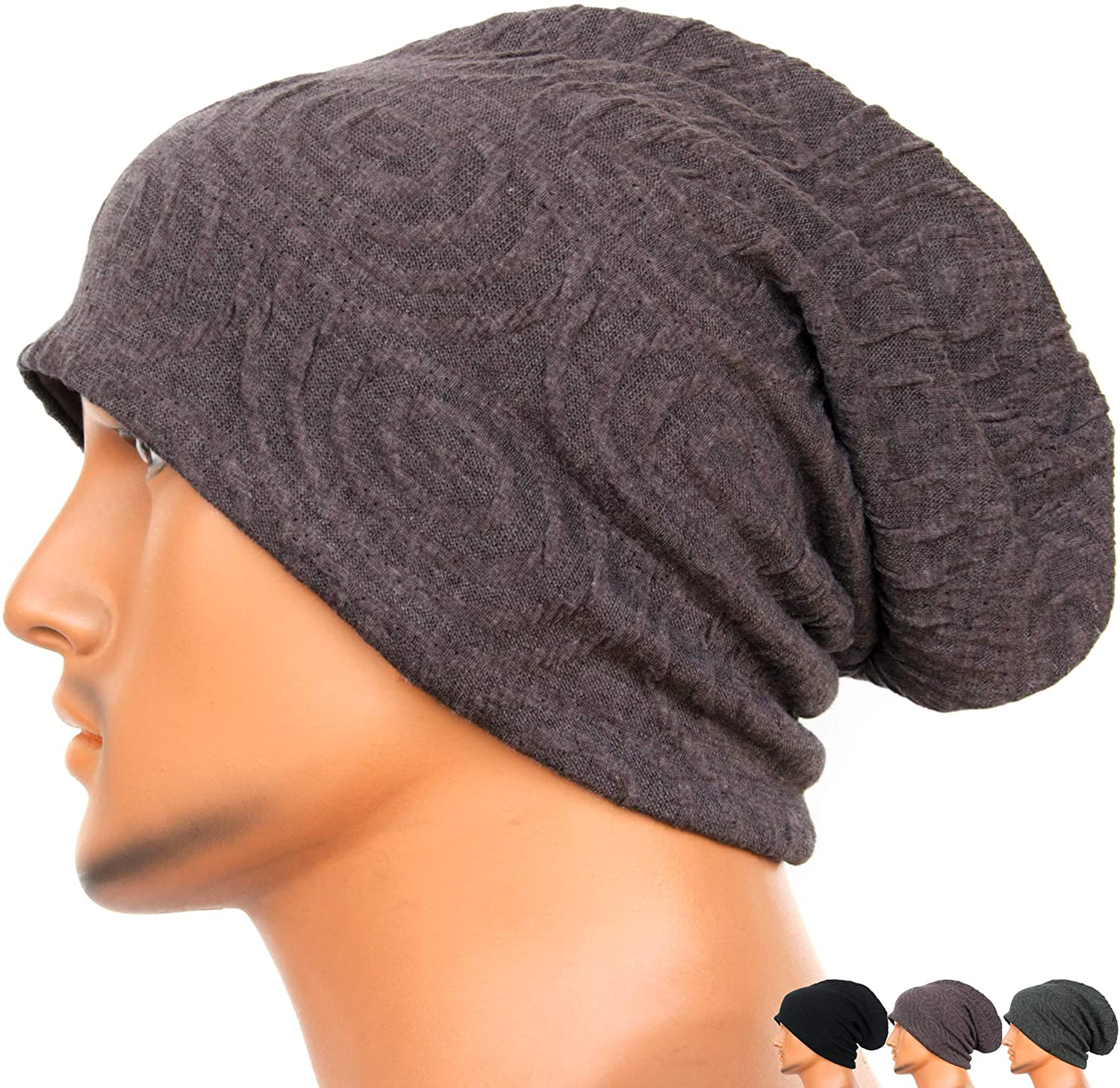 Rayna Fashion Men Women Summer Thin Slouchy Long Beanie Hat Cool Baggy  Skull Cap Stretchy Knit Hat Lightweight Black at Amazon Men s Clothing  store  e3d7f6d45f8