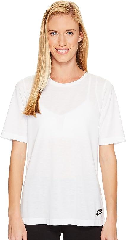 Nike Essential T Shirt de Sport pour Femme, Femme, Blanc