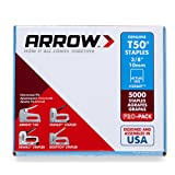 "Arrow A506IP Staples, T50, 3/8"", 10 mm (Pack of 5000)"