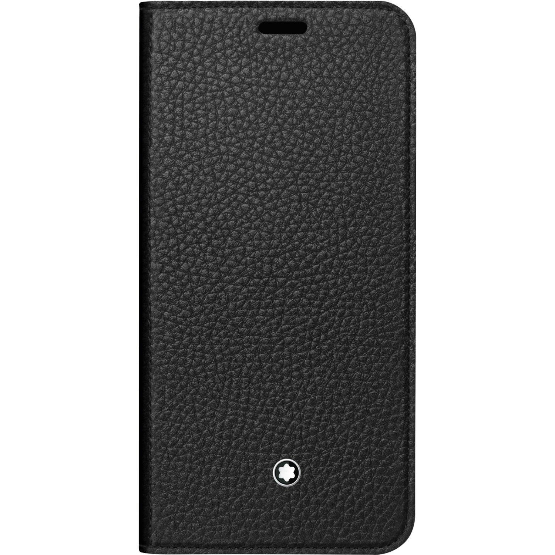 Genuine Original Official Montblanc Soft Grain Leather Flip Cover Case Meisterstuck 117758 for Samsung Galaxy S8 (SM-G950)