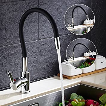 Auralum® Schwarz 360° Drehung Küchenarmatur Armatur ...
