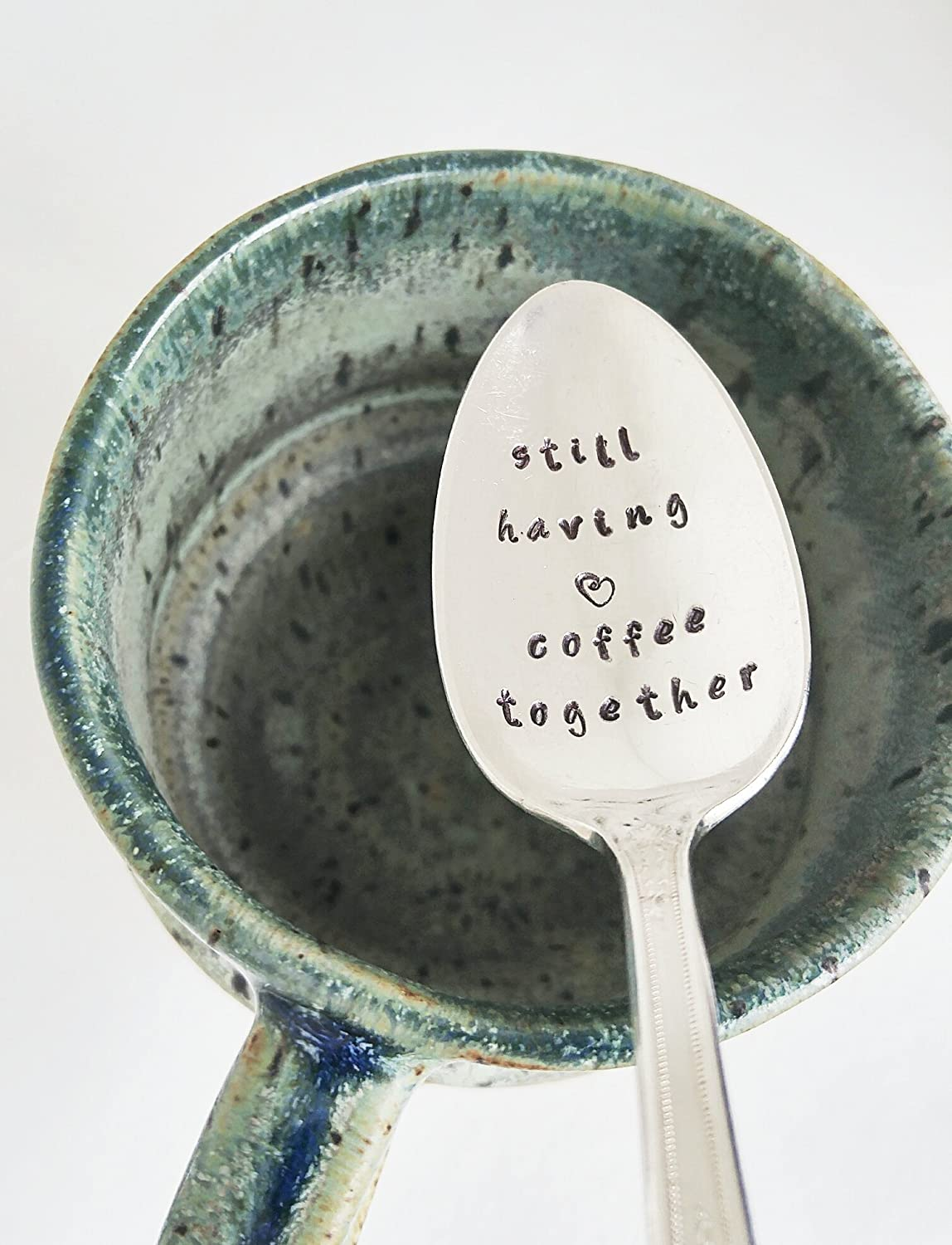Still Having Coffee Together - Hand Stamped Spoon - Coffee Spoon - Engraved Teaspoon