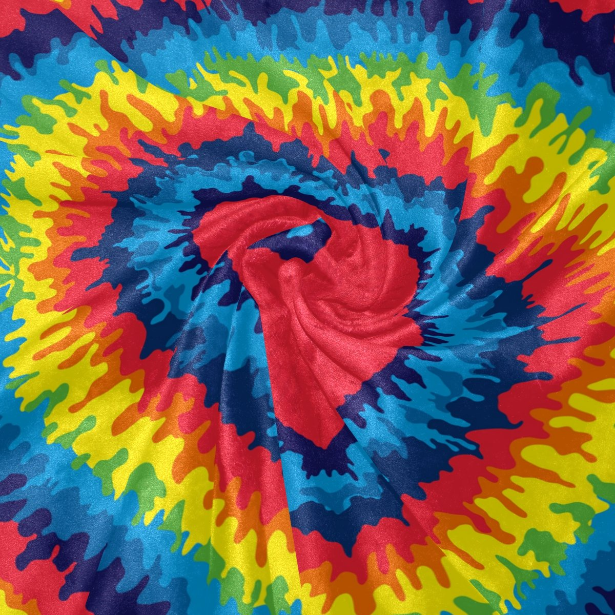 COOSUN Heart Tie Dye Super Soft Warm Blanket Lightweight Throw Throw Throw Blankets for Bed Couch Sofa Travelling Camping 60 x 50 Inch for Kids Boys Girls B0789D3MY1 Kopfkissenbezüge 059470