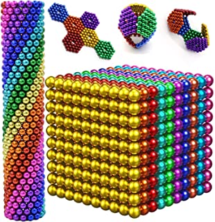 Sky Magnets 5 mm Magnetic Balls Cube Fidget Gadget Toys Rare Earth Magnet Office Desk Toy Games Magnet Toys Multicolor Beads Stress Relief Toys for Adults Rainbow