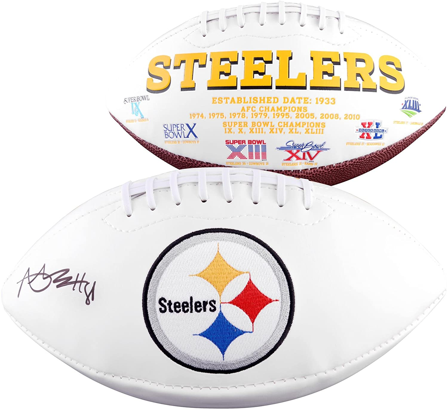 Antonio Brown Pittsburgh Steelers Autographed White Panel Football - Fanatics Authentic Certified - Autographed Footballs