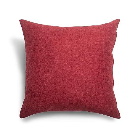 SuenosZzz- COJIN Relleno. Cojines Decoracion, Sofa,Cama, tapizado Acualine Antimanchas Rojo. Medidas: 48x48. Decoracion CASA.