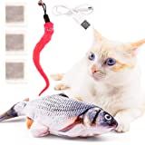 Floppy Fish Cat Toy Pack - Electric Flippity Fish Kicker Interactive Flopping Moving Fish Toy with Rechargeable UN38.3…