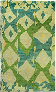 product image for Capel Round About-Big Top Key Lime 8' x 10' Rectangle Hand Knotted Rug